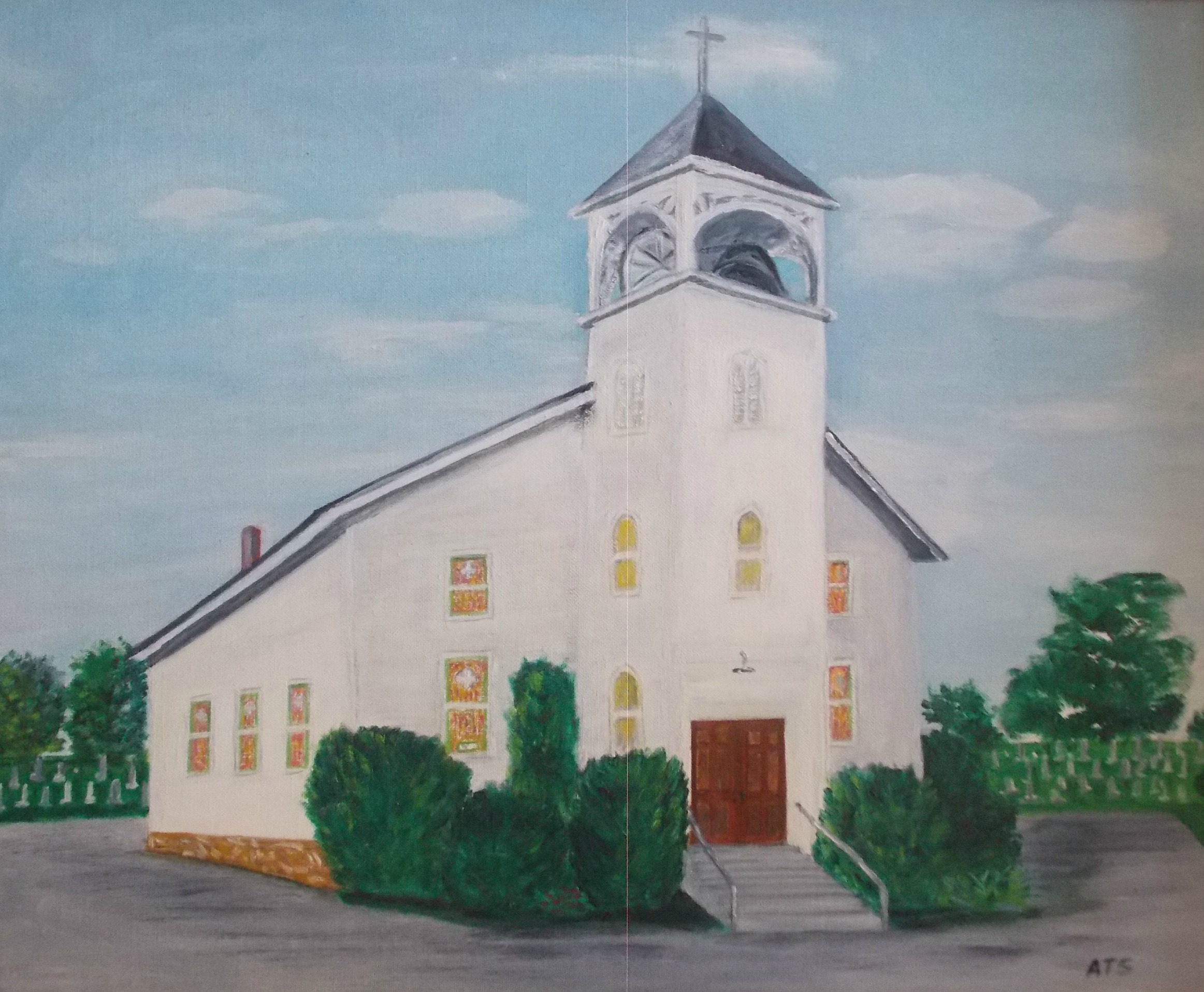 A painting of Friendship Church