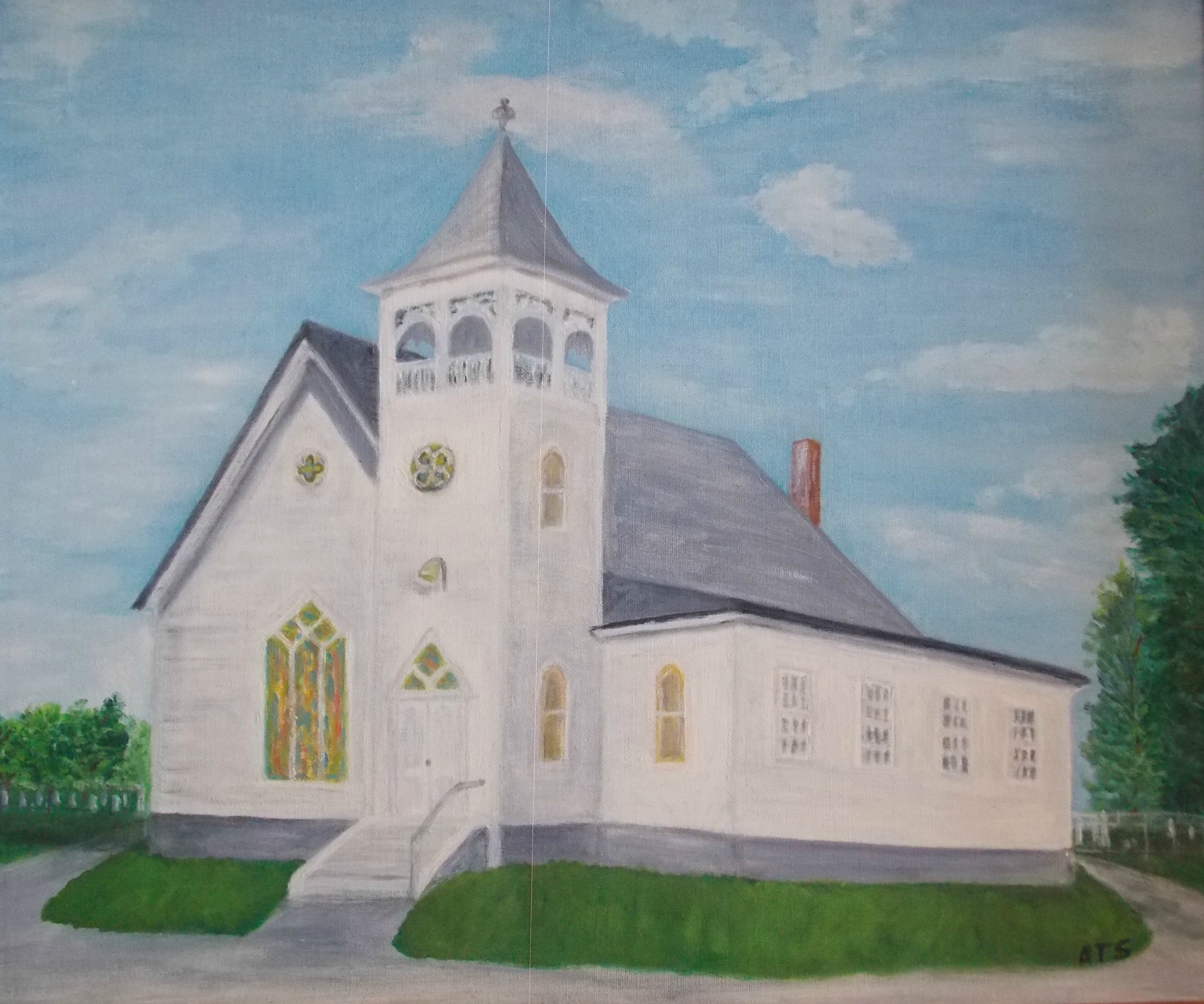 A painting of Providence Church